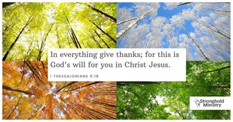 Why Give Thanks in Every Season?   Stronghold Ministry